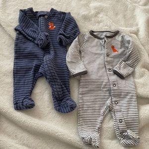 2 pajama sets